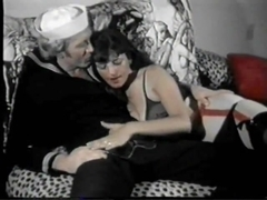 Vintage - hot hairy mature fucked by sailor