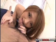 Yuzu Shiina get drilled deep by a throbbing cock and cum-filled