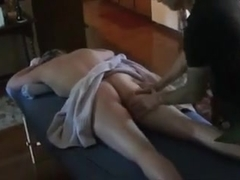 Hotwife gets fucked by her masseur.