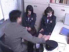 Two Jap teen sluts banged in Japanese hardcore video