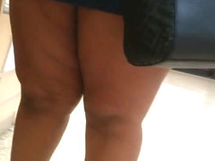 BBW thighs in mini skirt