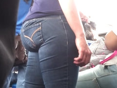Candid Latina Booty on NYC Bus 3