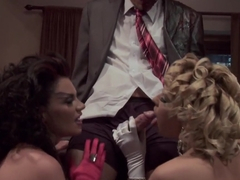 Horny pornstars Andy San Dimas and Jayme Janes in hottest threesome, facial porn video