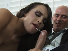Famous fucker Johnny Sins is sitting on the couch and having his girlfriend Teal Conrad hotly suck.