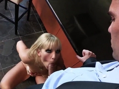 Ashley Fires gets nailed in the kitchen