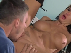 Seductive cop Alektra Blue wants to be licked and fucked wildly