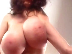 Big huge bouncy yummy boobs massive titty thin girl