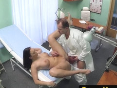 Hospital amateur cockriding during exam