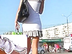 Lace candid strap upskirt movie scene