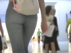 Superb teen babes walking their tight asses