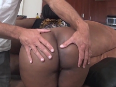 Chocolate hottie Layla Monroe getting nailed