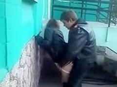 fucking behind school