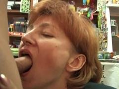 Saleswoman fucks with homeless