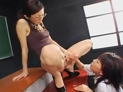 futanari skinny teacher and student