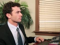Big Tits at Work: Bored Boss Cock
