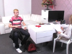FemaleAgent Unsuspecting stud dominated by pegging