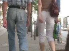 Amateur street candid voyeur blonde