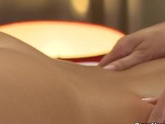 Blonde getting pussy massage till orgasm