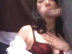 Hottest Japanese chick Miwako Yamamoto, Misa Yuuki, Marina Matsumoto in Fabulous Blowjob, Stocking.