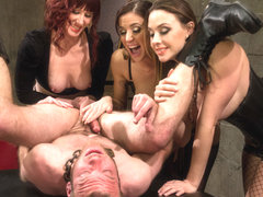 Maitresse Madeline Marlowe & Gia DiMarco & Chanel Preston & Jesse Carl in Milked To The Very Last .