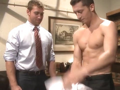 Mormon jock inspected and screwed with with bondage play