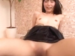 Petite Asian doll Minami Hirahara gets her shaved pussy plowed