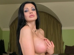 Nympho Aletta Ocean pleases her silky beaver with those wild fingers