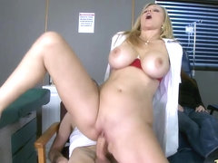 Sexy Julia seduces a guy and fucks him while gf passes out