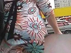 Playgirl in short petticoat upskirts