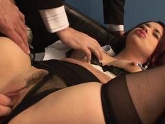 Incredible pornstar Olga Cabaeva in horny gangbang, blowjob porn movie