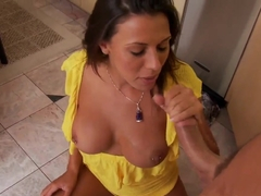 Absolutely outstanding whore Rachel Starr making deepthroat blowjob