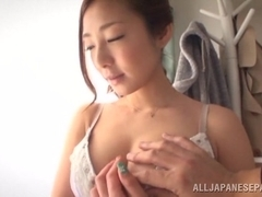Alluring Asian model Minori Hatsune gets big tits fucked