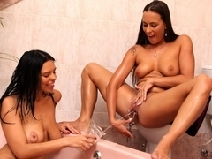 Kira Queen and Mea Melone in HD Pissing Video Mermaids