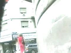Hidden camera got amazing up skirt of teenage babe
