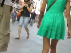 Impressive girl's upskirt on the street