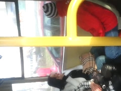 spy sexy mature in bus romanian