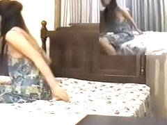 Smoking hot Jap teen rubbed well in spy cam massage video
