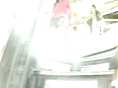 Candid upskirt shot compilation with one girl aware of the cam