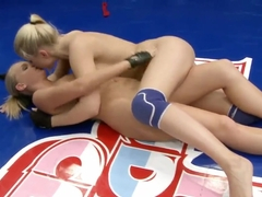 Barbie White eats out Brandy Smile in the ring