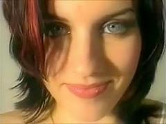 Nice Girl Takes Cum in Her Blue Eyes