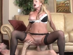 British big tits cougar in stockings fucks 2