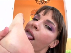 Dana De Armond feet fetish blowjob