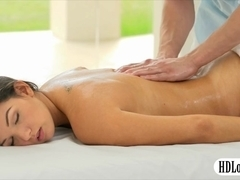 Big boobs Shae Summer nailed by masseur on massage table