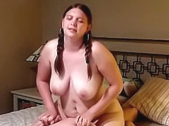 Sharon in pigtails fucking