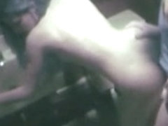 Security cam sex video with a slut getting fucked