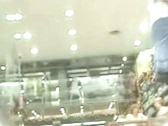 Up skirt voyeur films hot bunny's perky  ass