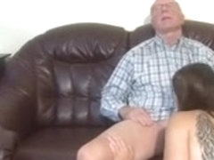 German granddad makes juvenile cutie sexually excited