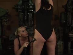 Humpy Milla spanks Kathia's big ass and makes her scream