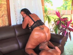 Sandra Bum Bum with huge ass takes on monster cock