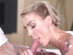 Elen Million & Steve Q in Oiled Glamorous Russian Squirting - MassageRooms